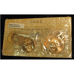 305. 2007 First Spouse Bronze Medal Set:  This four-medal set includes one each of the  1-5/16-inch