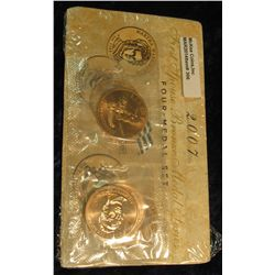 306. 2007 First Spouse Bronze Medal Set:  This four-medal set includes one each of the  1-5/16-inch