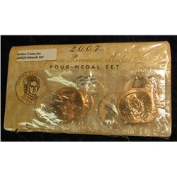307. 2007 First Spouse Bronze Medal Set:  This four-medal set includes one each of the  1-5/16-inch