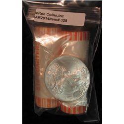 328. 2001 D North Carolina & 2008 P Alaska Statehood Quarter Rolls. Gem BU. Bank-wrapped; & 2008 Gem