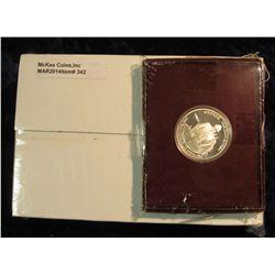 342. U.S. Mint box containing 2005 P & D Original BU Rolls of Bison Nickels Set; & 1982 S Proof Silv