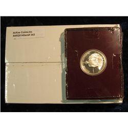 343. U.S. Mint box containing 2005 P & D Original BU Rolls of Bison Nickels Set; & 1982 S Proof Silv