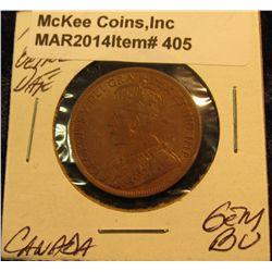 405. 1915 Canada Cent. Gem BU. Better date.