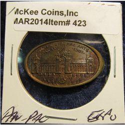 423. 1901 Indian Cent Pan-Pac Elongated. Gem BU.