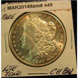 449. 1891 CC Morgan Silver Dollar. Choice BU. Rare date.