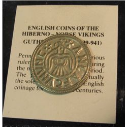 816. Copy of an English Silver Penny Coin of Hiberno – Norse Vikings Guthfrithsson (939-941) – from