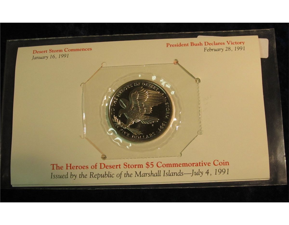 to the heroes of desert storm coin