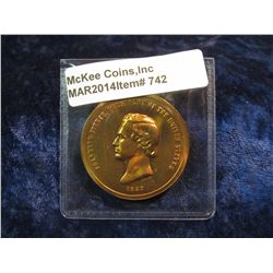 742. Franklin Pierce Inauguration Medal – bronze, produced by US Mint