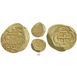 Mexico City, Mexico, cob 2 escudos, (1714)J, from the 1715 Fleet.