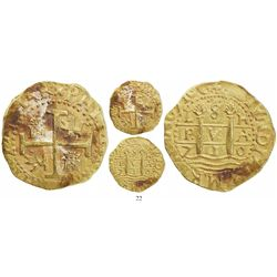 Lima, Peru, cob 8 escudos, 1710H, from the 1715 Fleet.