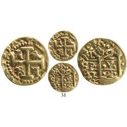 Lima, Peru, cob 2 escudos, 1727M, Tauler Plate Coin.
