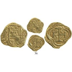 Bogota, Colombia, cob 2 escudos, Philip IV, assayer A below mintmark NR to left (ca. 1635), from the