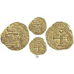 Bogota, Colombia, cob 2 escudos, Philip IV, assayer not visible (R to left, mintmark NR to left, 164