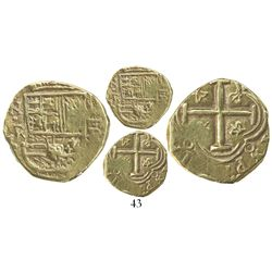 Bogota, Colombia, cob 2 escudos, Philip IV, assayer R to right, mintmark NR to left (1650s).