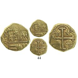 Bogota, Colombia, cob 2 escudos, Philip IV, assayer not visible (R to right, 1650s).