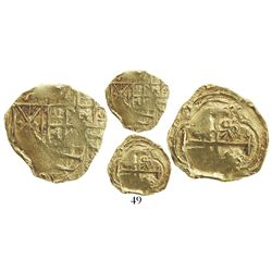 Bogota, Colombia, cob 2 escudos, Charles II, no assayer, from the 1715 Fleet, ex-McKee.