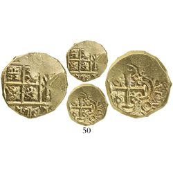 Bogota, Colombia, cob 2 escudos, Charles II posthumous, from the 1715 Fleet.