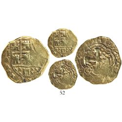 Bogota, Colombia, cob 2 escudos, (172)0, no assayer, Philip V (ordinal visible), rare.