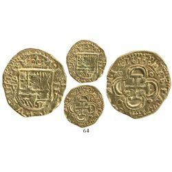 Seville, Spain, cob 2 escudos, 1613V, huge flan.