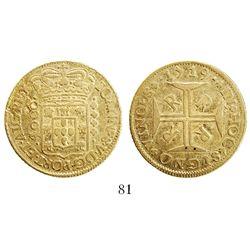 Brazil (Rio mint), 4000 reis, Joao V, 1719-RRRR.