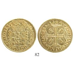 Brazil (Rio mint), 4000 reis, Joao V, 1724-RRRR.