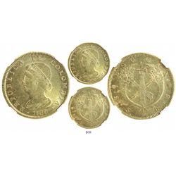 Bogota, Colombia, 8 escudos, 1830RS, encapsulated NGC MS 61.