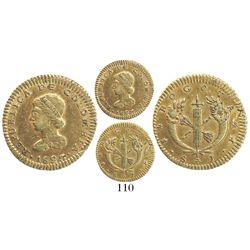 Bogota, Colombia, 1 escudo, 1823JF.