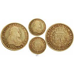 Mexico City, Mexico, bust 8 escudos, Philip V, 1744MF.