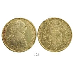 Mexico City, Mexico, bust 8 escudos, Charles III, 1772FM.