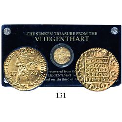 Utrecht, United Netherlands, ducat, 1729, from the Vliegenthart (1735), housed in a hard-plastic pro