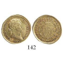 Lima, Peru, bust 1 escudo, Ferdinand VII, 1821JP.