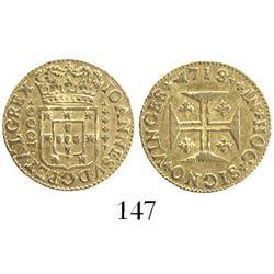Lisbon, Portugal, 1000 reis, Joao V, 1718.