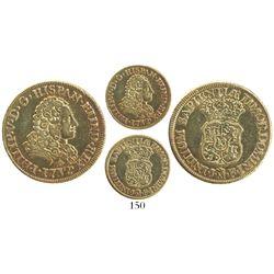 Madrid, Spain, bust 2 escudos, Philip V, 1732JF.