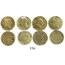 Lot of 4 Spain (Madrid and Seville) bust 1/2 escudos, Ferdinand VI and Charles III, as follows: Madr