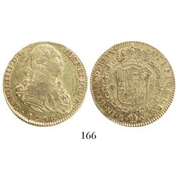 Madrid, Spain, bust 4 escudos, Charles IV, 1796MF.