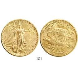 USA (Philadelphia mint), $20 St. Gaudens, 1924.