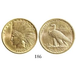USA (Philadelphia mint), $10 Indian head, 1907.