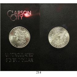 USA (Carson City mint), $1 Morgan, 1880-CC, in original GSA plastic holder and box and with original