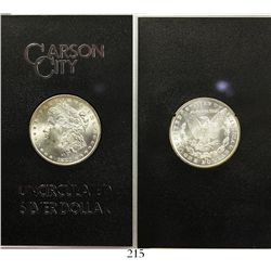 USA (Carson City mint), $1 Morgan, 1881-CC, in original GSA plastic holder and box and with original
