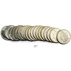 Original BU roll (20 coins) of USA (New Orleans mint) $1 Morgan, 1883-O.