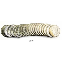 Original BU roll (20 coins) of USA (New Orleans mint) $1 Morgan, 1884-O.