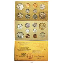 Original double mint set (20 coins) of 1957 USA (Philadelphia and Denver mints) 50c (4), 25c (4), 10