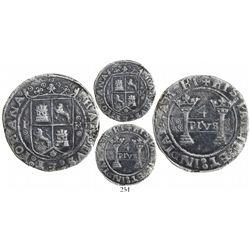 "Mexico City, Mexico, 4 reales, Charles-Joanna, ""Early Series,"" oPo to left, oMo to right (rare), lef"
