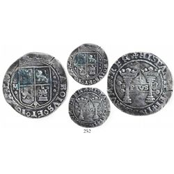 """Mexico City, Mexico, 4 reales, Charles-Joanna, """"Early Series,"""" oMo to left, oPo to right, slightly l"""