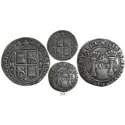 """Mexico City, Mexico, 4 reales, Charles-Joanna, """"Early Series,"""" oMo to left, oPo to right, unique err"""