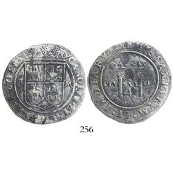 """Mexico City, Mexico, 4 reales, Charles-Joanna, """"Late Series,"""" assayer A to left, mintmark M to right"""