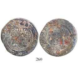 """Mexico City, Mexico, 4 reales, Charles-Joanna, """"Late Series,"""" assayer G to left, mintmark M to right"""