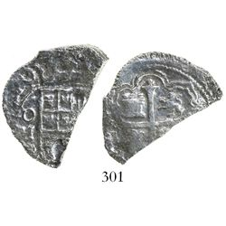 Mexico City, Mexico, cob 4 reales, (16)20(D), Grade 3, rare.