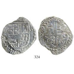 Potosi, Bolivia, cob 8 reales, 1619(T), Grade 2.