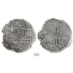 Potosi, Bolivia, cob 8 reales, (16)20T, Grade 1.